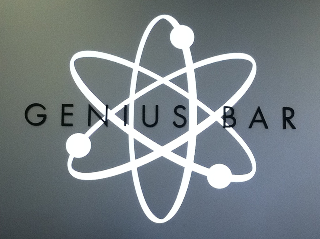 Genius bar logo at Apple store
