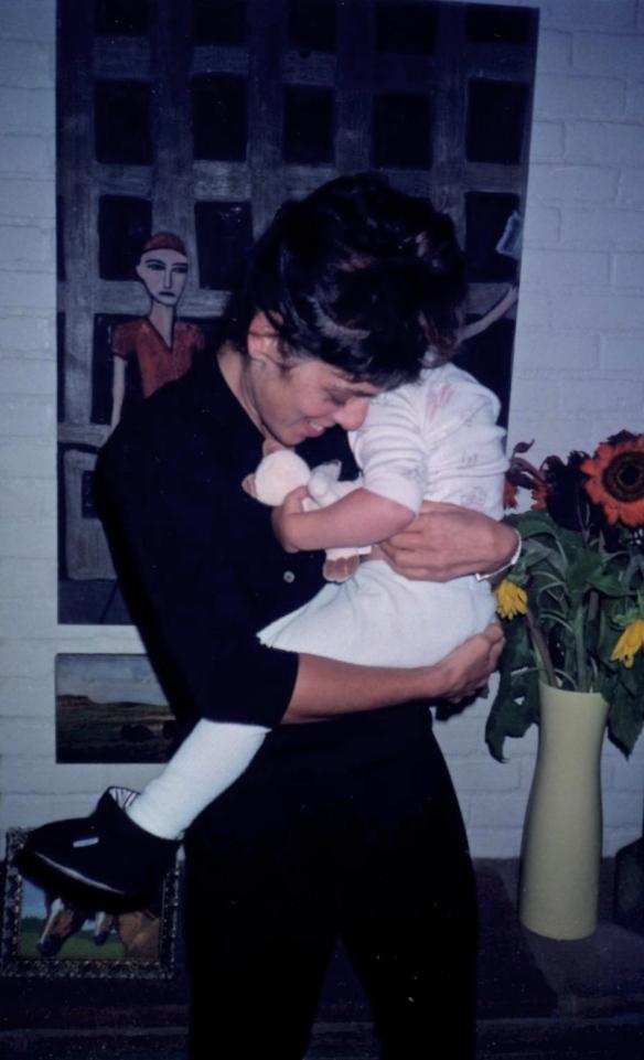 Jill holding baby Zazu