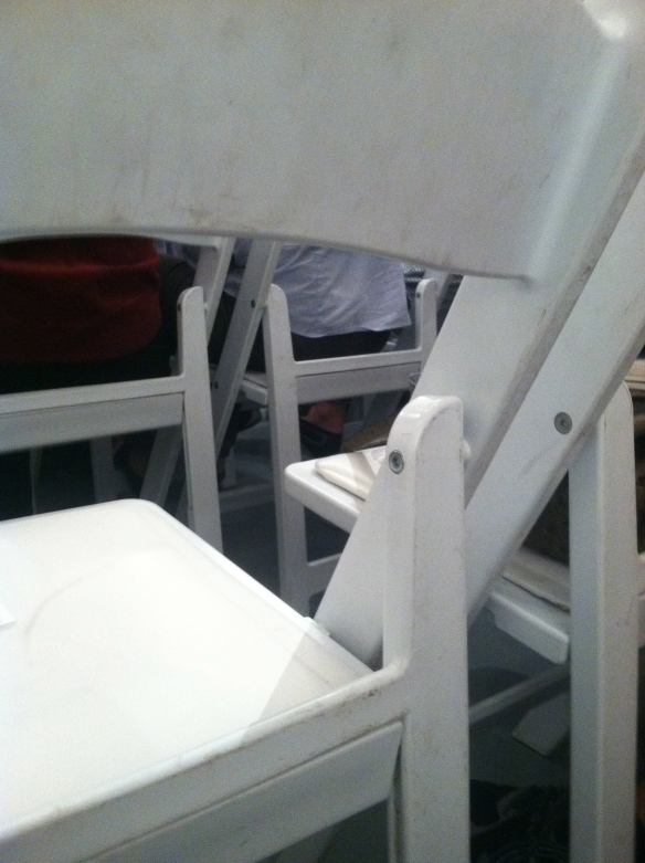 white empty chair