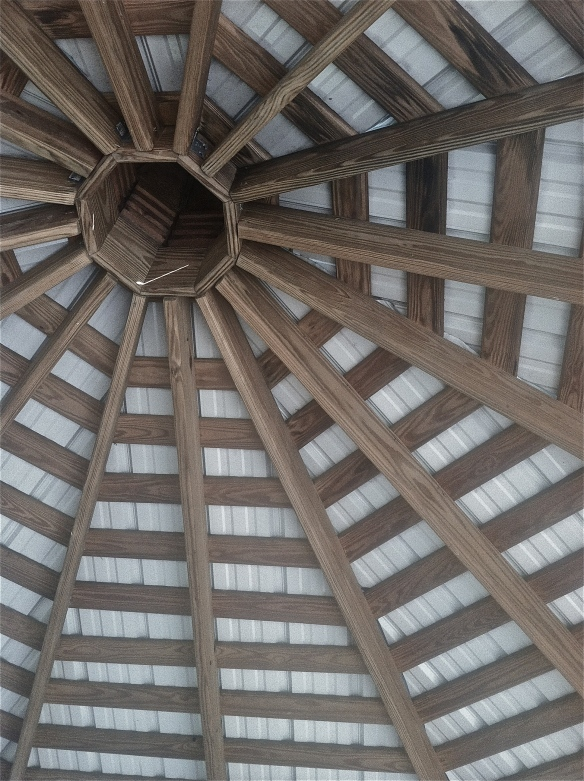 Wooden circular ceiling
