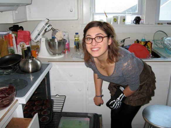 J.Lucy in her kitchen